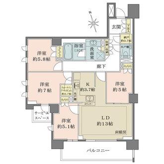 ザ・パークハウス昭和吹上の間取図