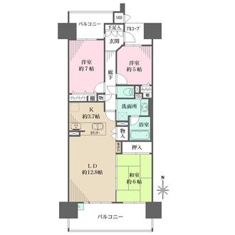 サンマンションアトレ高蔵寺駅前の間取図