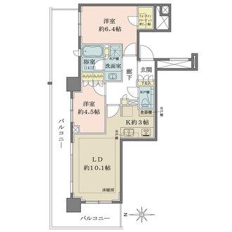 ザ・パークハウス久屋大通ローレルタワーの間取図