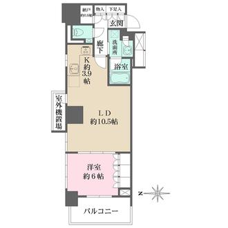 プラウドタワー名古屋丸の内の間取図