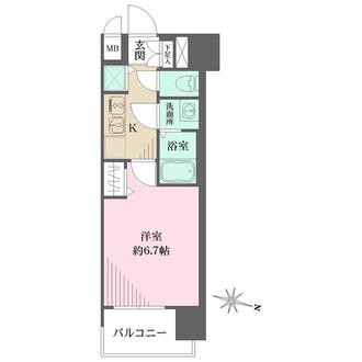 プレサンス名古屋STATIONルミアスの間取図