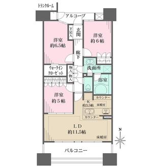 栄アインスタワーの間取図