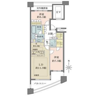 セントラルガーデン・レジデンスC棟の間取図