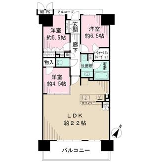 ワコーレシティ神戸三宮の間取図