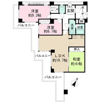 藤和神戸北野町ホームズの間取図