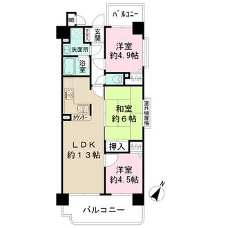新神戸壱番館ハウス・パートIの間取図