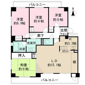 ディオレ新神戸の間取図