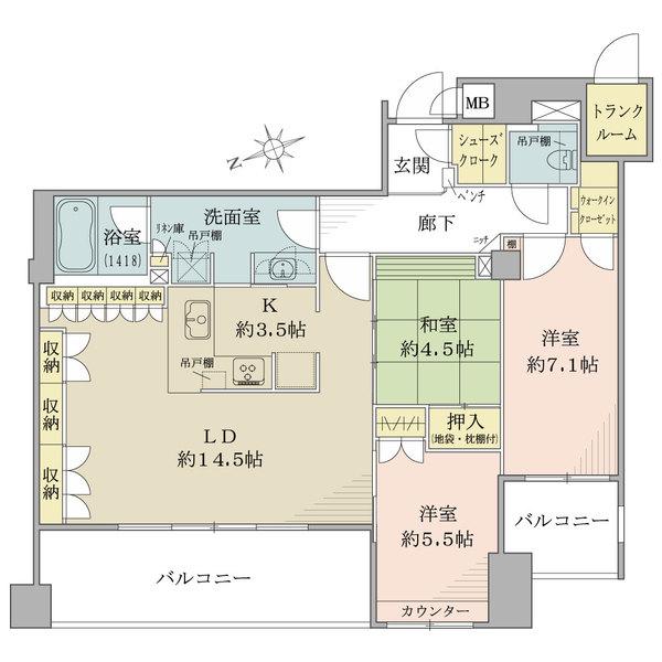 ザ・レジデンス京都祇園八坂通の間取図