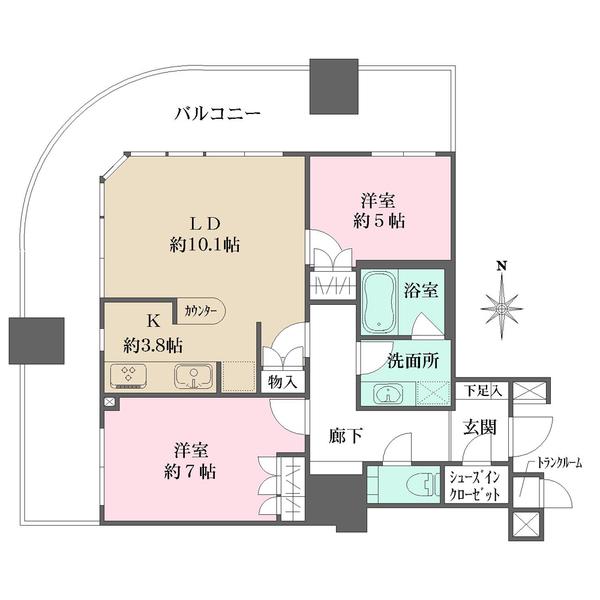 ザ・梅田タワーの間取図