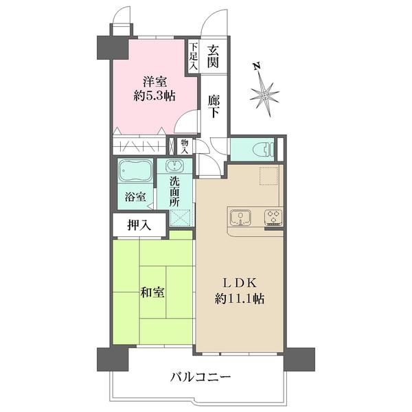 ライオンズマンション梅田中崎町の間取図