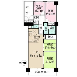 ファミールハイツ北大阪第四期5号棟の間取図