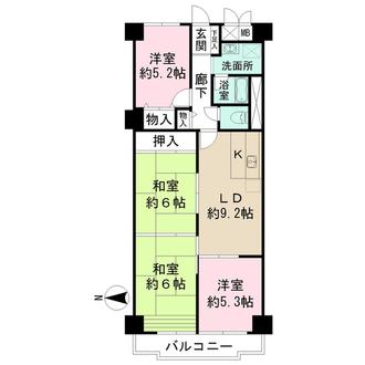 藤和奈良ハイタウンの間取図