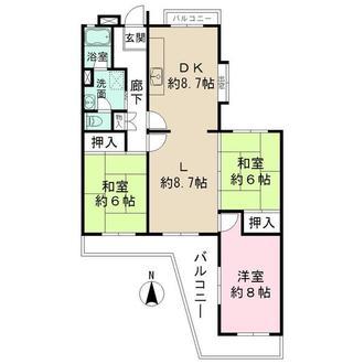 境谷西第2住宅団地の間取図