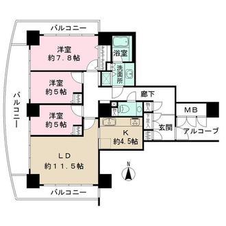 OAPレジデンスタワー東館の間取図