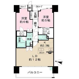 ザ・パークハウス新福島の間取図