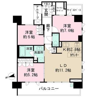 ザ・パークハウス阿倍野昭和町の間取図