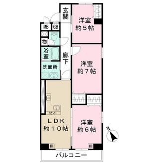 上本町ガーデンハイツの間取図