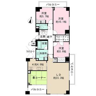 芦屋松ノ内パークハウスの間取図