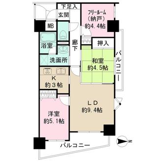 ワコーレ新神戸プラザの間取図