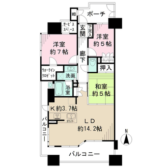BELISTAタワー福島の間取図