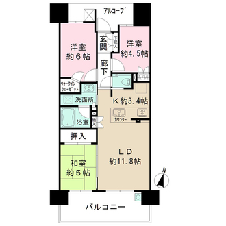 ザ・パークハウス新大阪の間取図