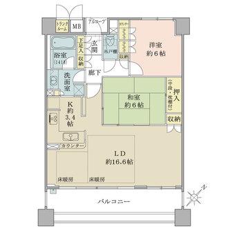 堂島川シティハウスの間取図