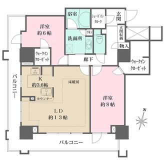 ライオンズタワー神戸元町の間取図