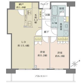 ザ・パークハウス中之島タワーの間取図
