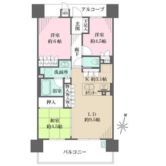 ザ・パークハウス梅田の間取図