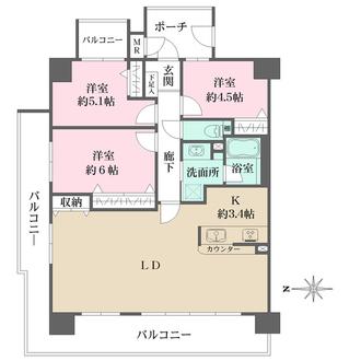 ファミール東加賀屋きらめきの街の間取図