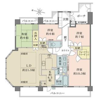 ファミール・グラン岡崎東山荘の間取図