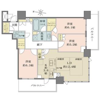ブランズタワー梅田Northの間取図