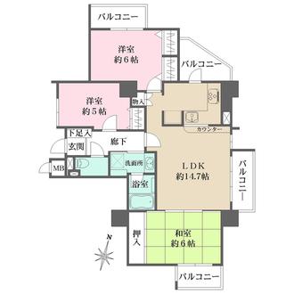 サンヴェール大阪城公園の間取図