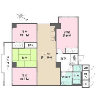北大阪ハイツの間取図