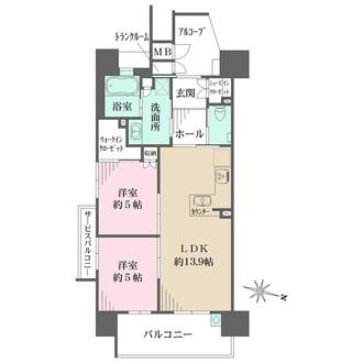 サンフォーリーフタウン桜ノ宮の間取図