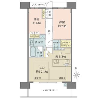 ザ・パークハウス大阪福島の間取図