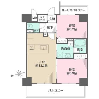 プレサンスTHE神戸の間取図