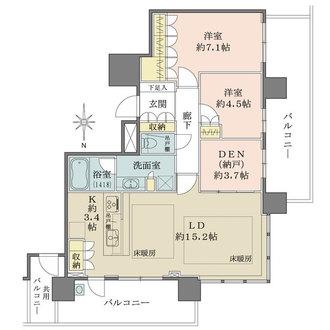 パークタワー梅田の間取図