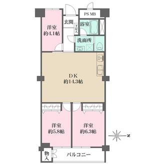 グランドマンションニュー大阪の間取図