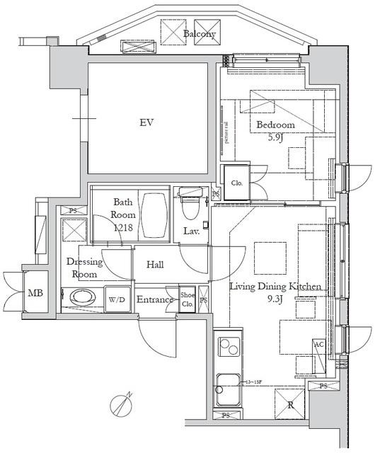HOUSE岩本町の間取図