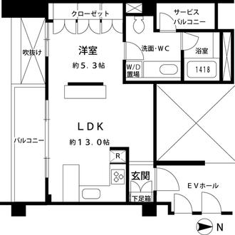 オークウッドハウスの間取図