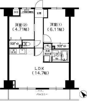 S-FORT船橋塚田の間取図
