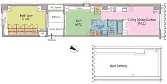 パークハビオ駒沢大学の間取図