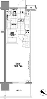 パークハビオ渋谷神山町の間取図