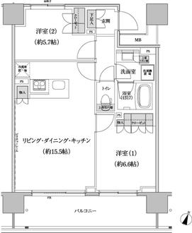 パークハビオ渋谷本町レジデンスの間取図