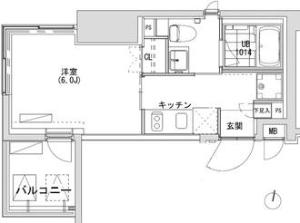 グランディオール広尾テラスの間取図