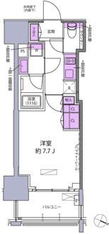 シティハウス東麻布の間取図