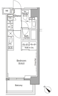 ザ・パークハビオ月島フロントの間取図