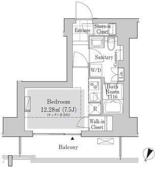 リブクオーレ神保町の間取図