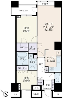 THE TOKYO TOWERSの間取図